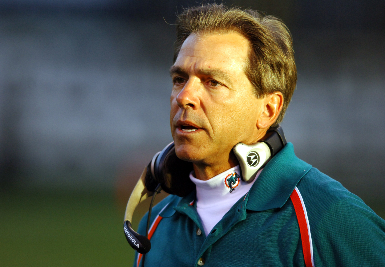 Nick Saban's tenure with the Miami Dolphins did not go well at all. In fact, he even reportedly had multiple players wanting to fight him.
