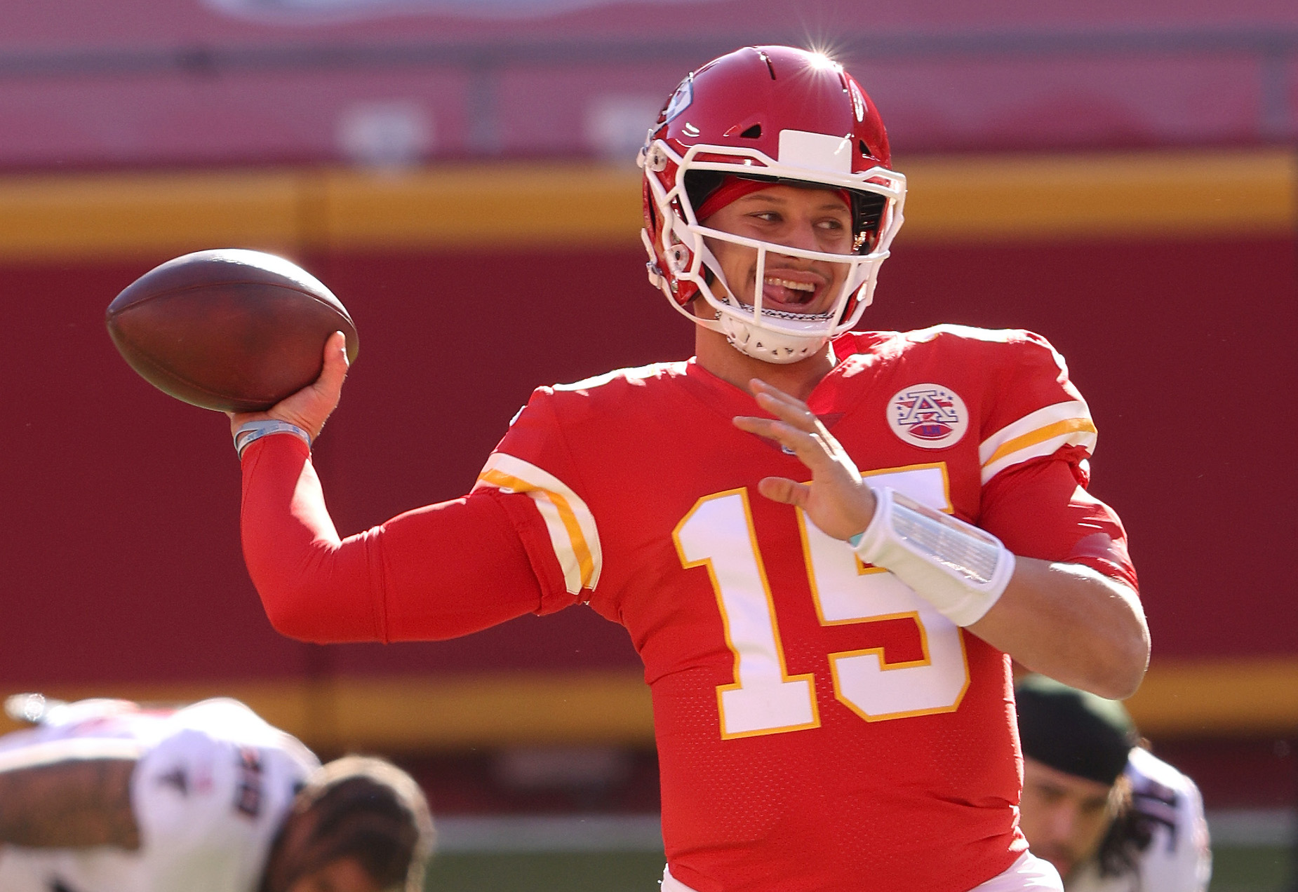 Whether he's playing for the Kansas City Chiefs or riding his Peloton, Patrick Mahomes is always competing