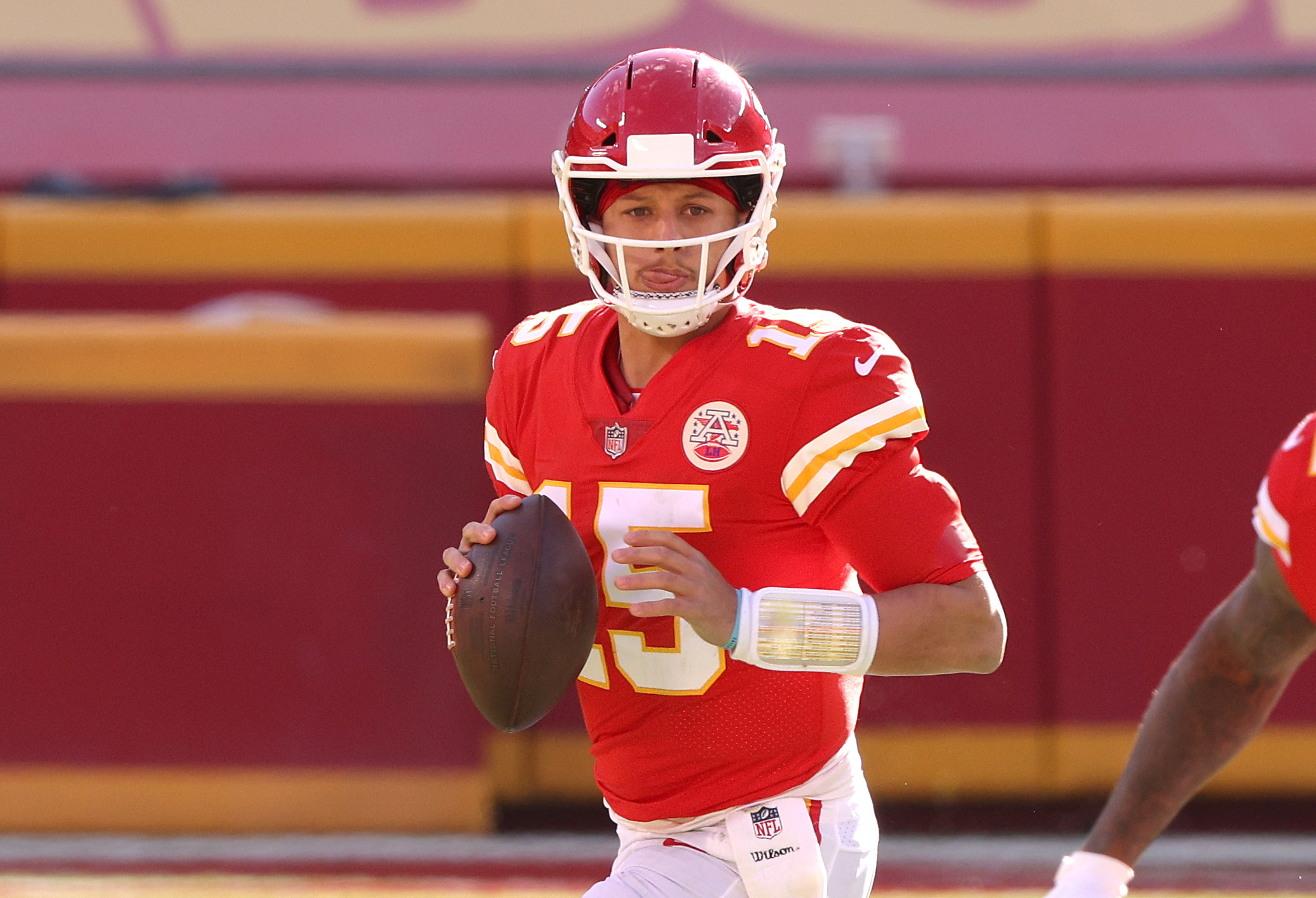 Patrick Mahomes is always looking for ways to sharpen his game, even if that means drawing up plays in the sand in his spare time.