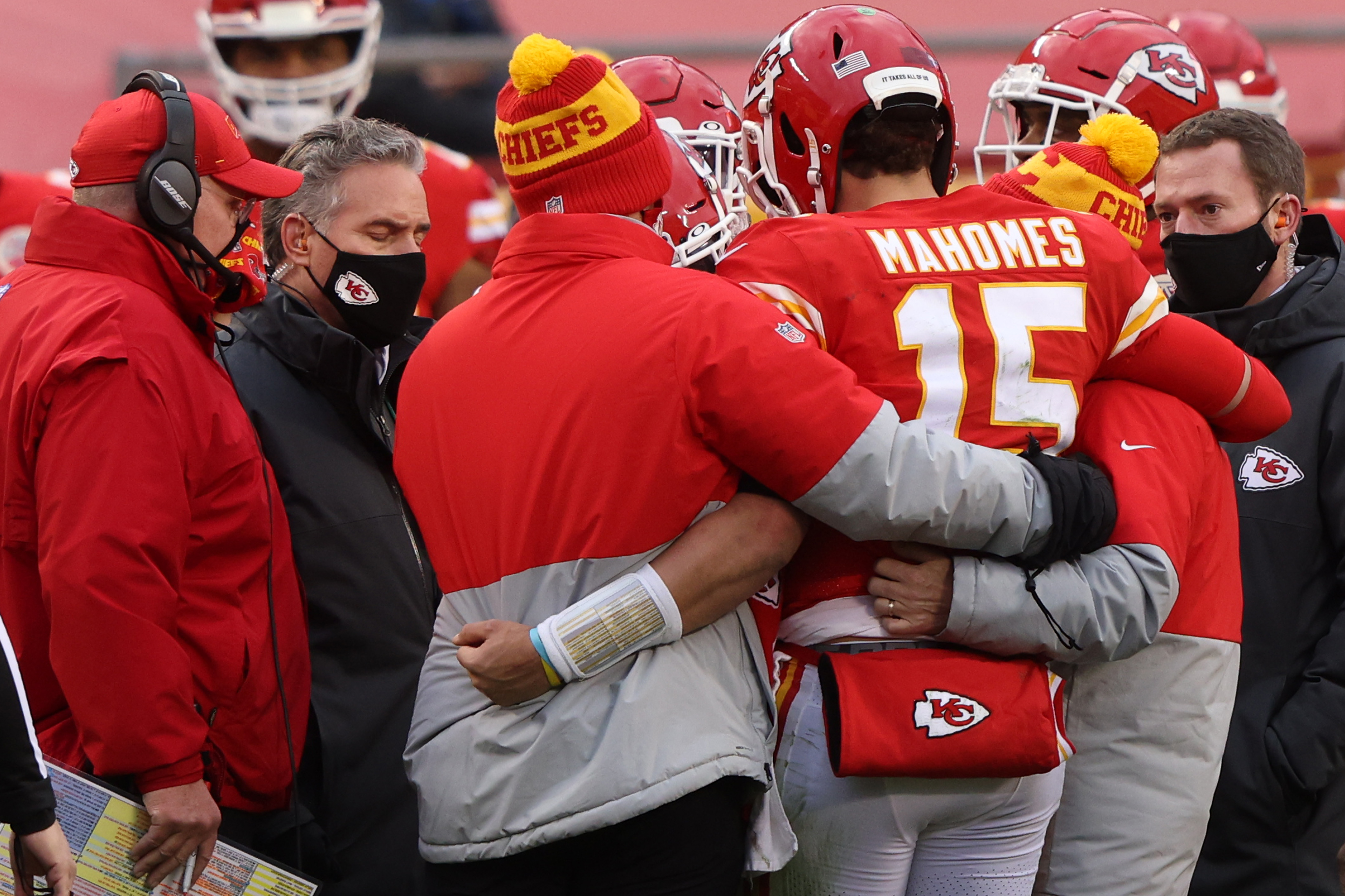 Patrick Mahomes' status for Sunday's AFC Championship game is uncertain, but Andy Reid gives a promising message about his quarterback's status