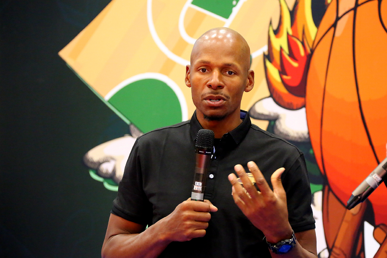 Ray Allen says he doesn't think about the fallout he's had with his former Celtics teammates.