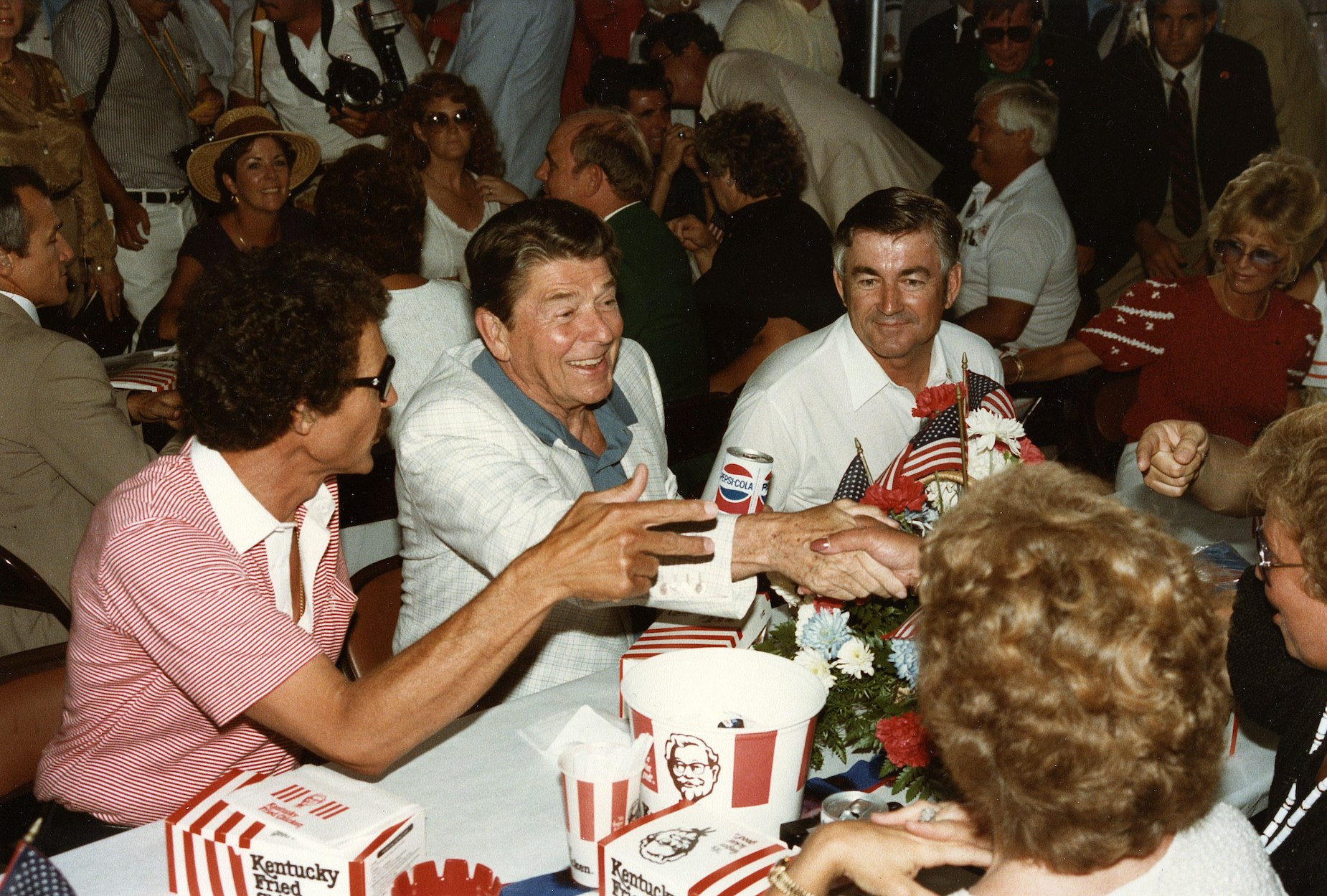 Richard Petty won his 200th NASCAR race on the Fourth of July then ate KFC with Ronald Reagan.