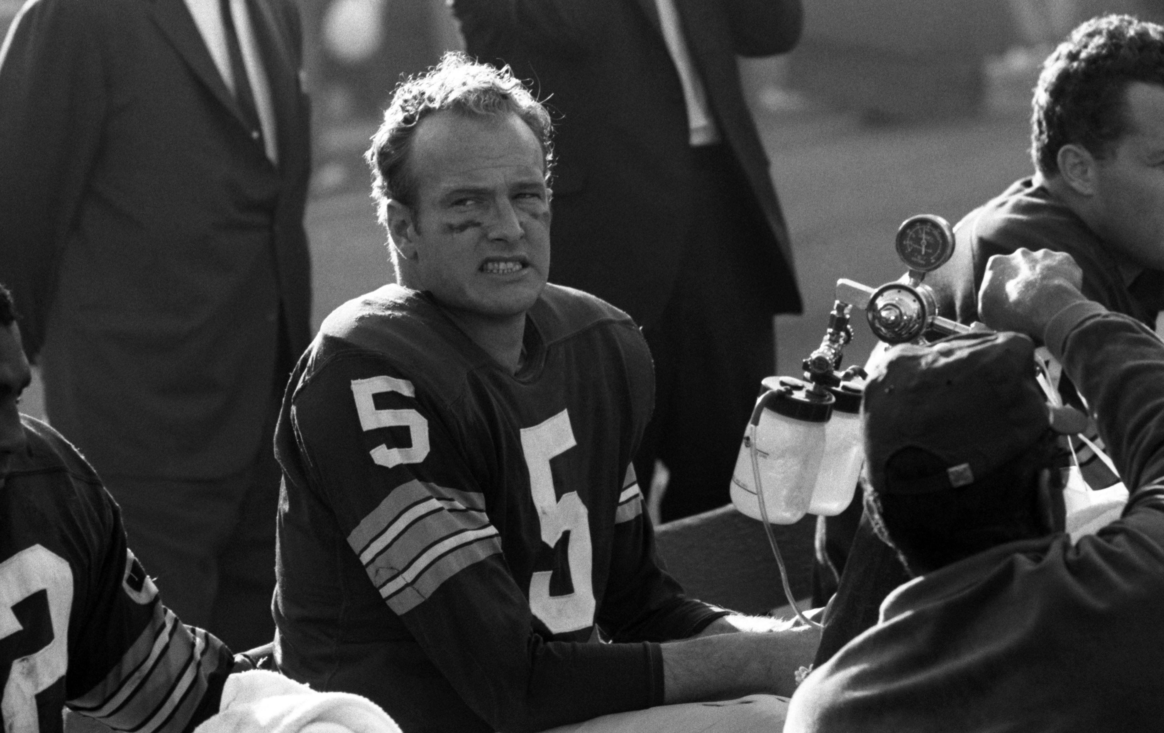 Paul Hornung of the Green Bay Packers watches the action in 1967
