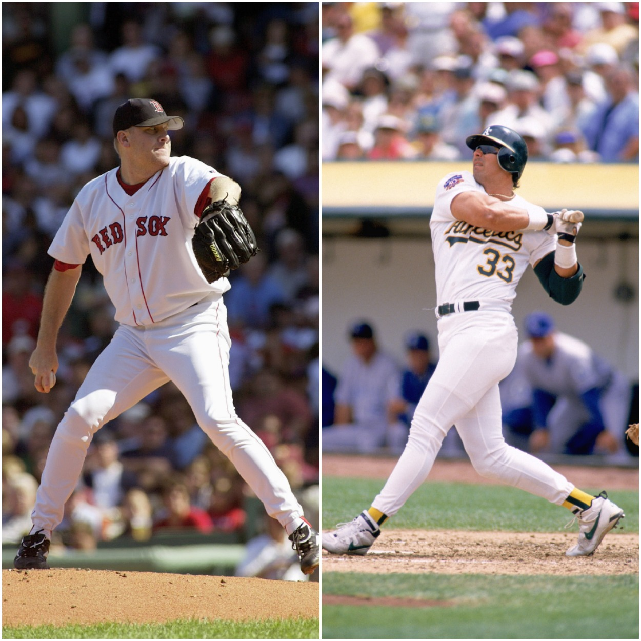 Curt Schilling and Jose Canseco