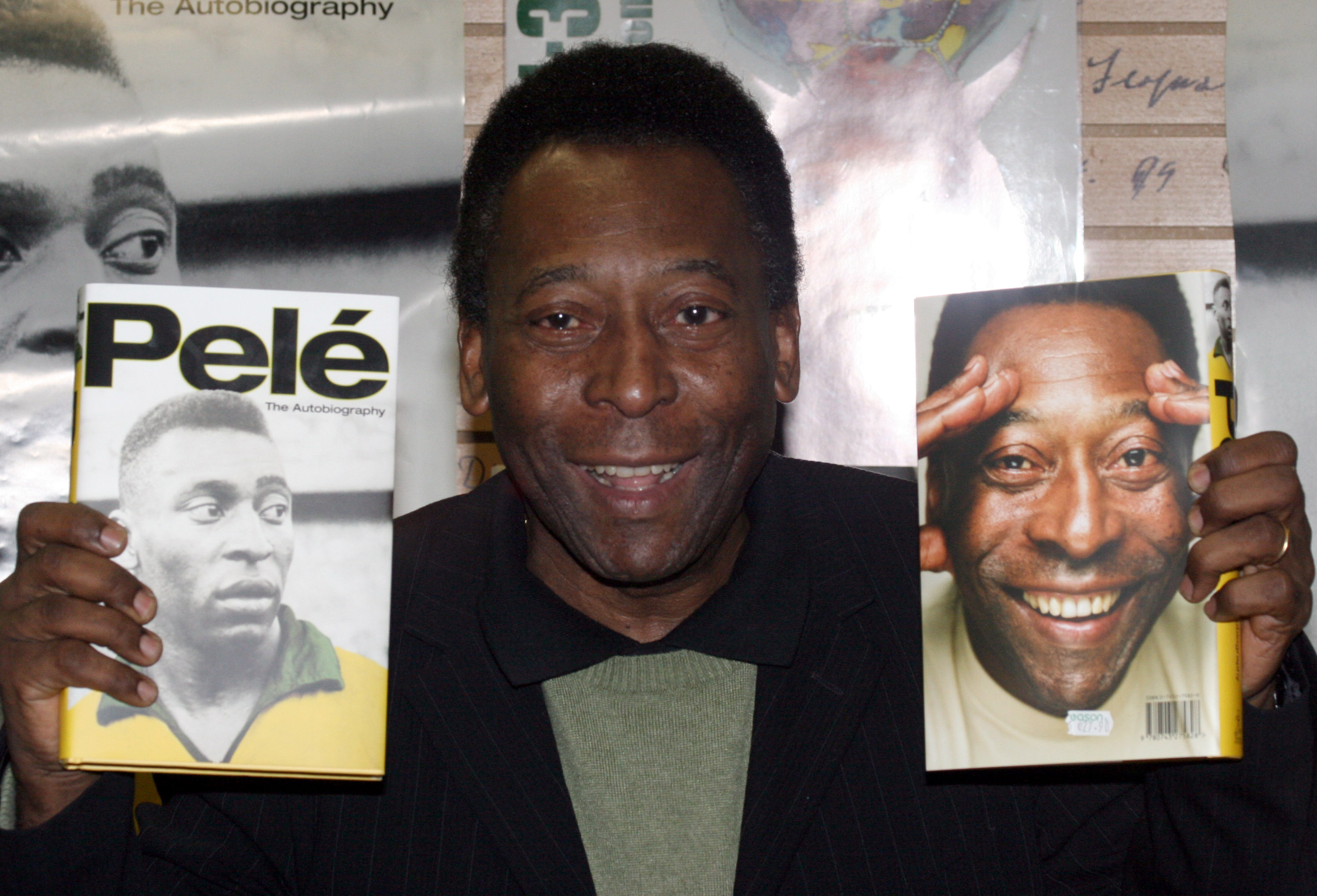 Soccer star Pelé during a book signing in 2006