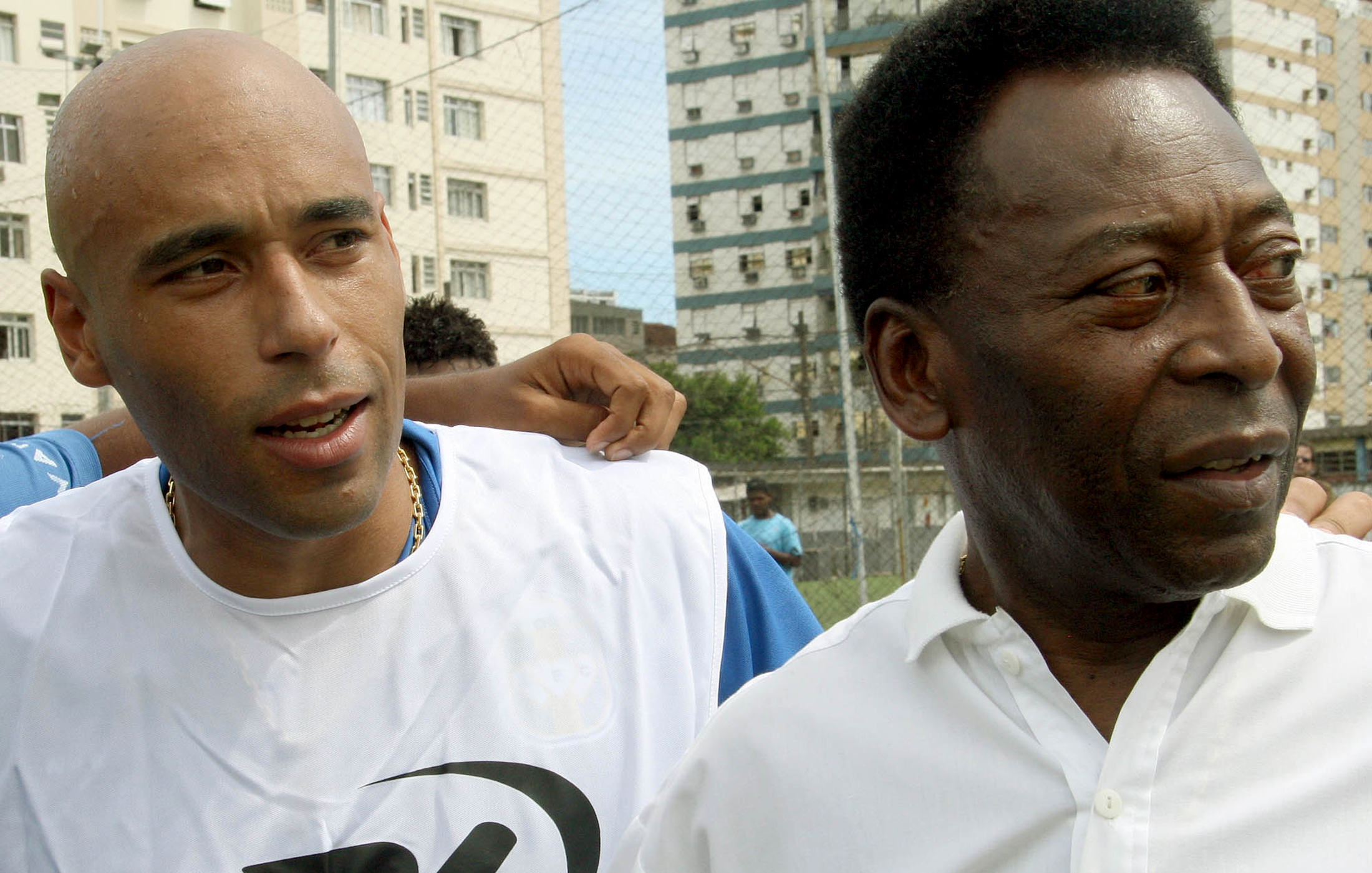 Soccer star Pelé and son Edinho