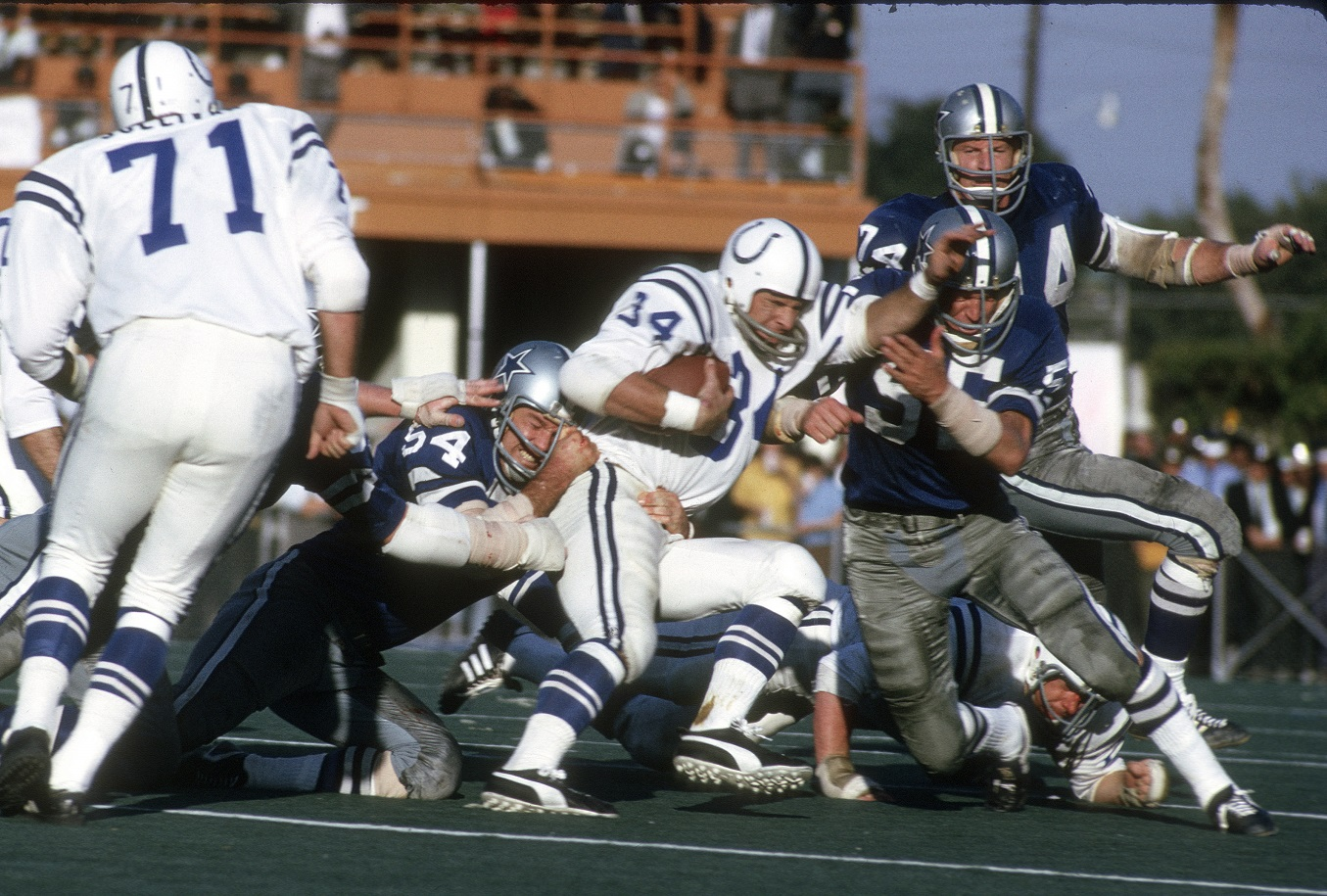Super Bowl V between the Colts and Cowboys