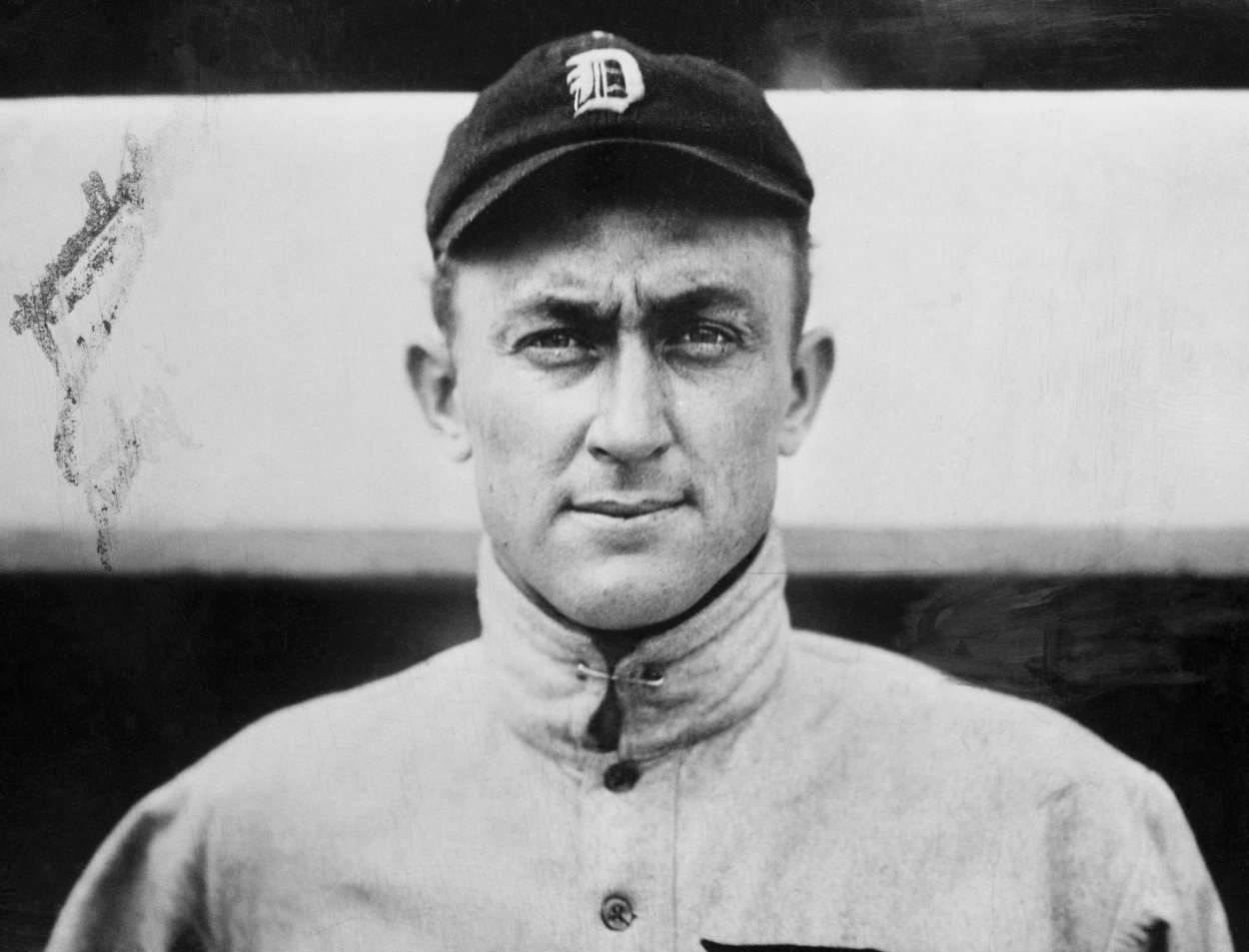 Ty Cobb poses for a photo in his Tigers uniform