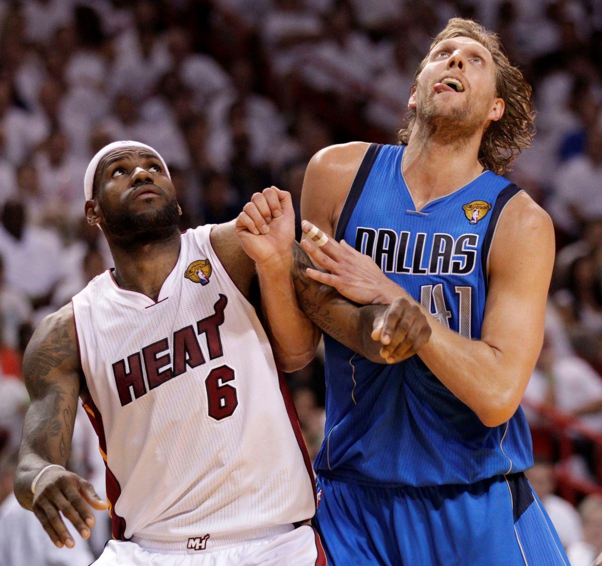 LeBron James, Dirk Nowitzki, Heat, Mavs