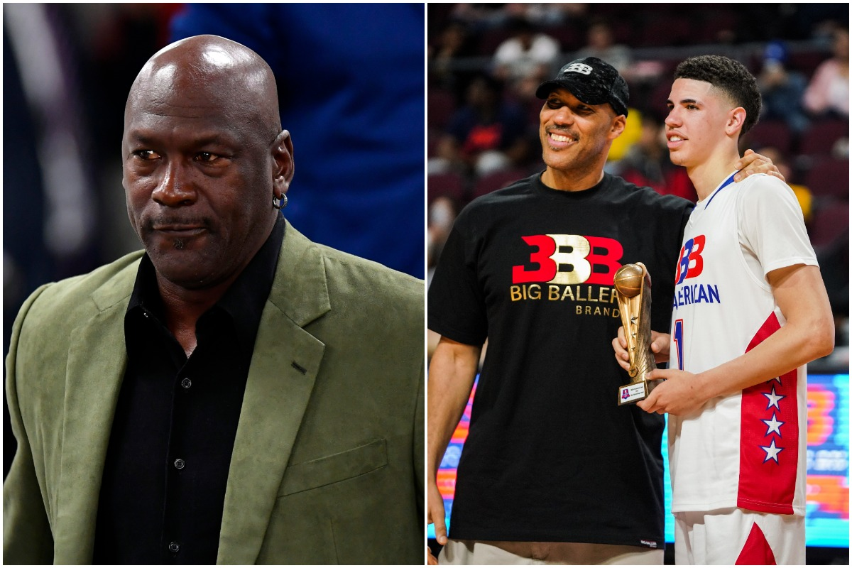 Michael Jordan, LaVar Ball, LaMelo Ball, Hornets