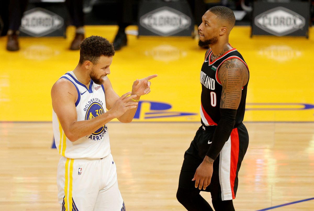 Damian Lillard, Blazers, Warriors, Draymond Green