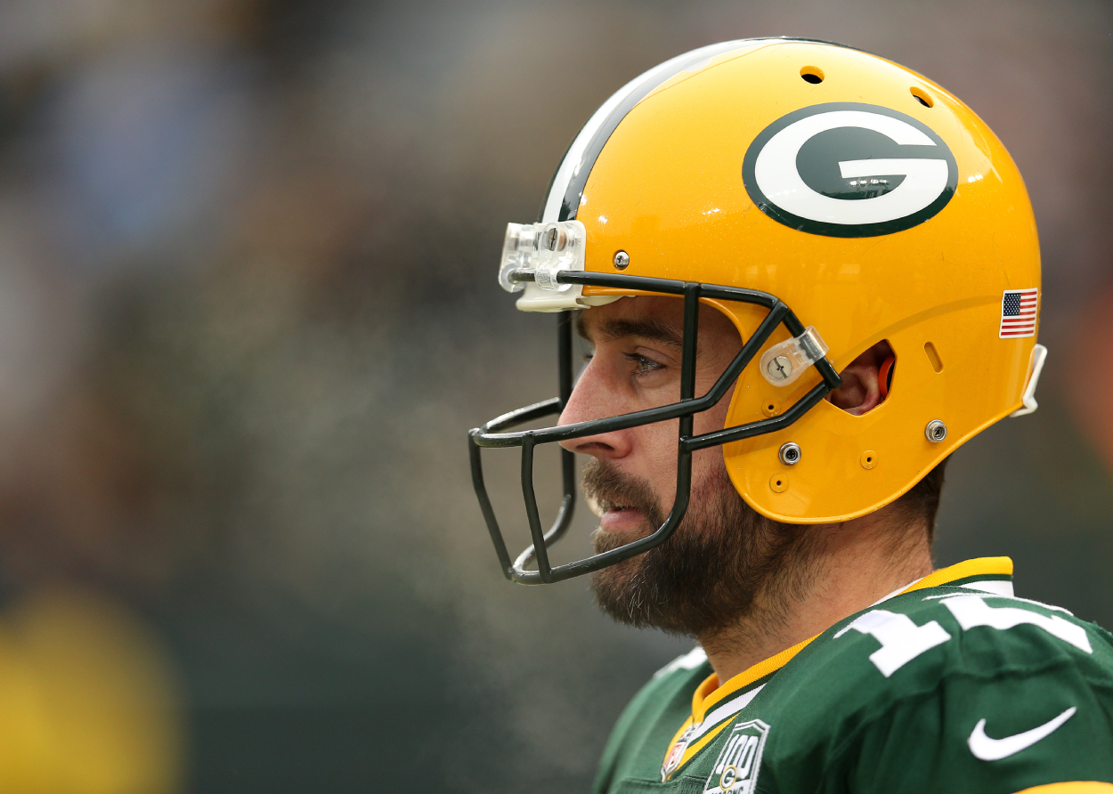 Packers quarterback Aaron Rodgers, who may finally bury the hatchet with Ndamukong Suh, during a game against the Lions in 2018.