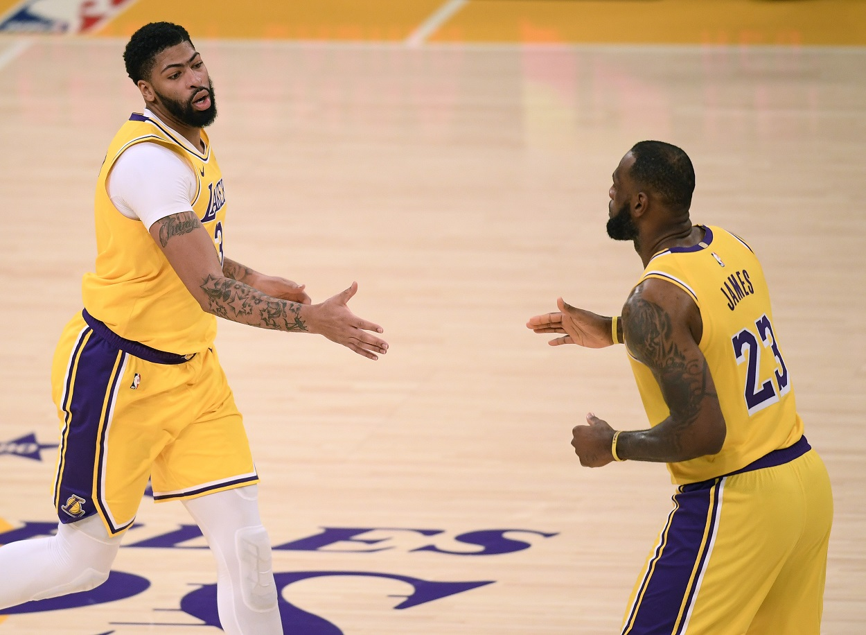 Los Angeles Lakers stars Anthony Davis and LeBron James