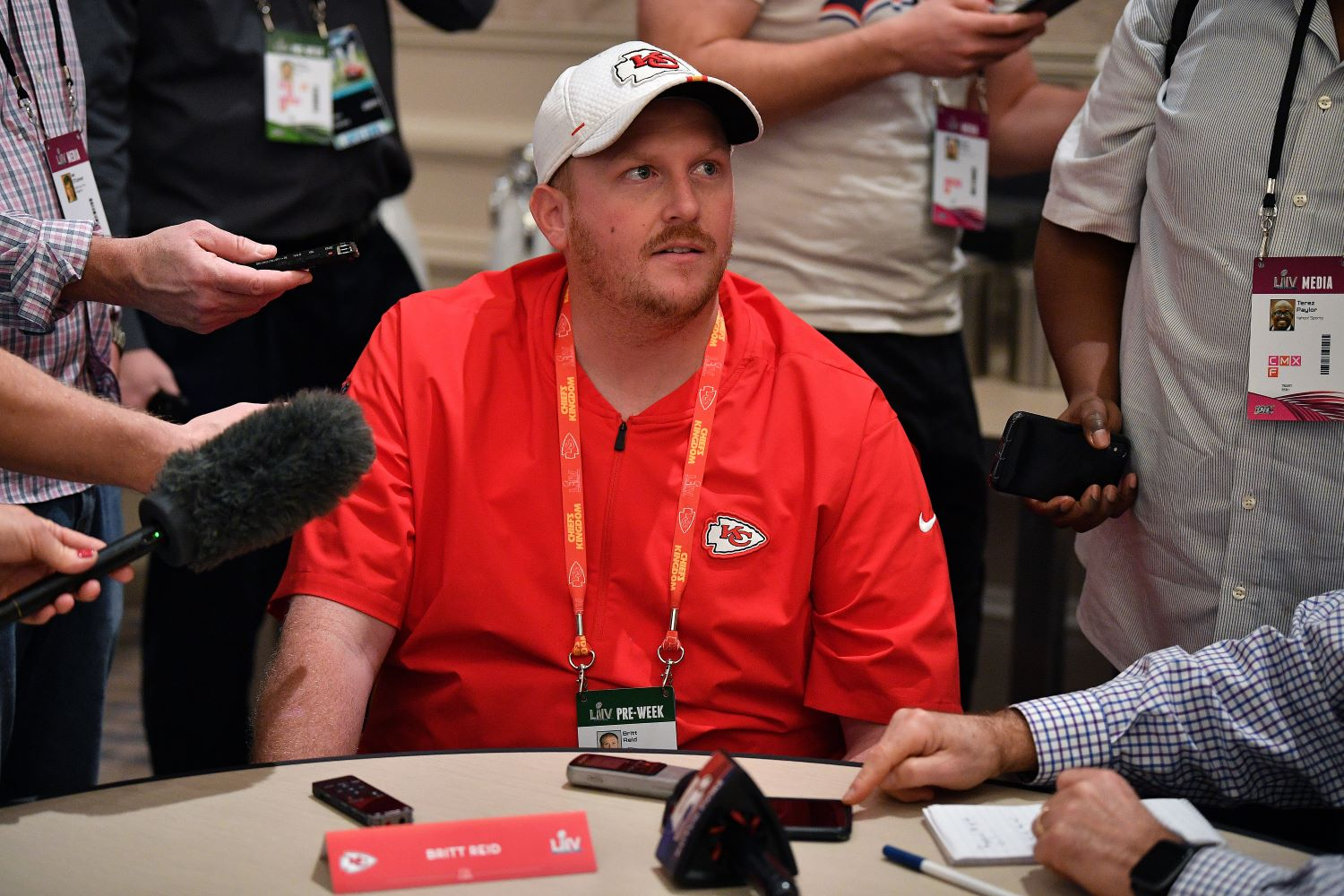 Andy Reid's son, Britt Reid, will not coach for the Chiefs in Super Bowl 55 after a car crash left one child with life-threatening injuries.