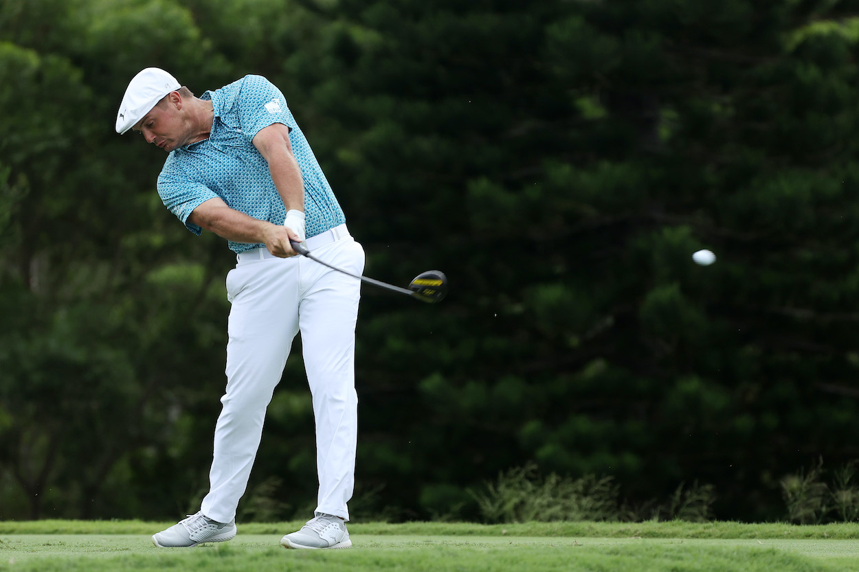 Bryson DeChambeau unleashes a monster drive at the Sentry Tournament of Champions
