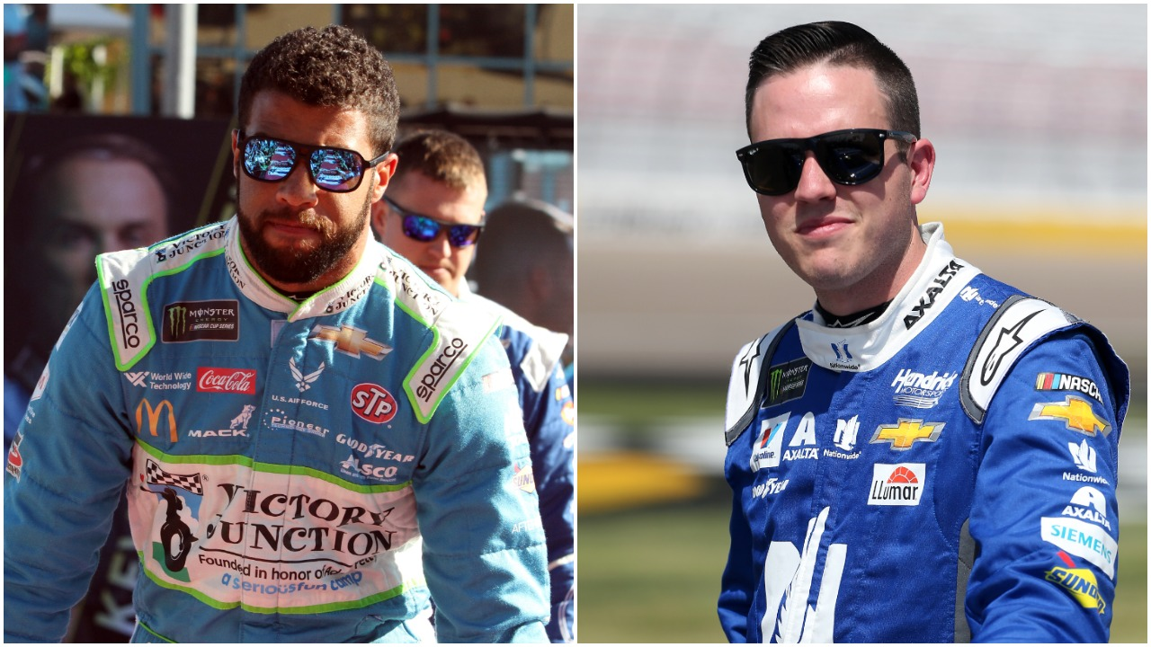 NASCAR drivers Bubba Wallace and Alex Bowman
