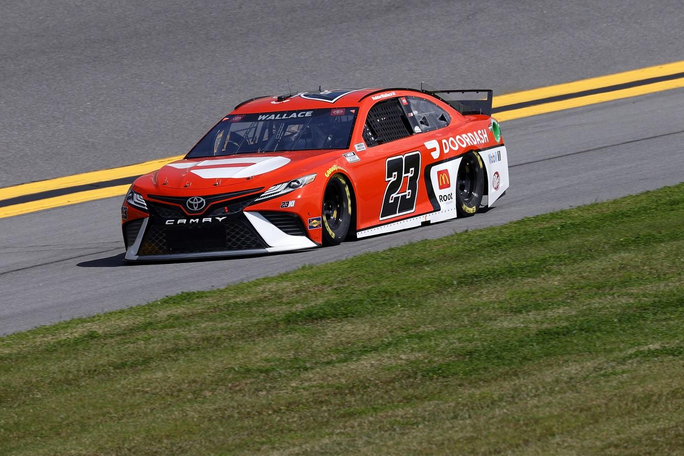 Bubba Wallace in the #23 23XI Racing car