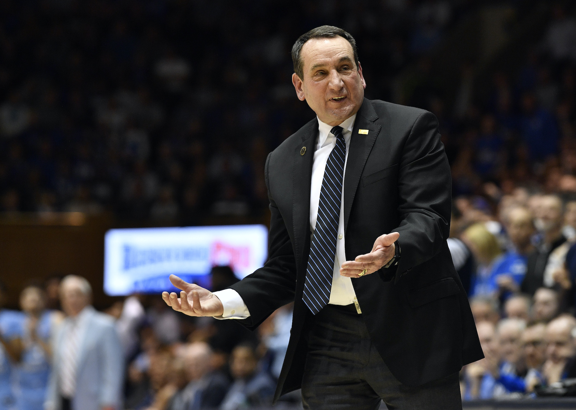 While things haven't been easy for Coach K and his Duke Blue Devils this season, things just became even tougher.