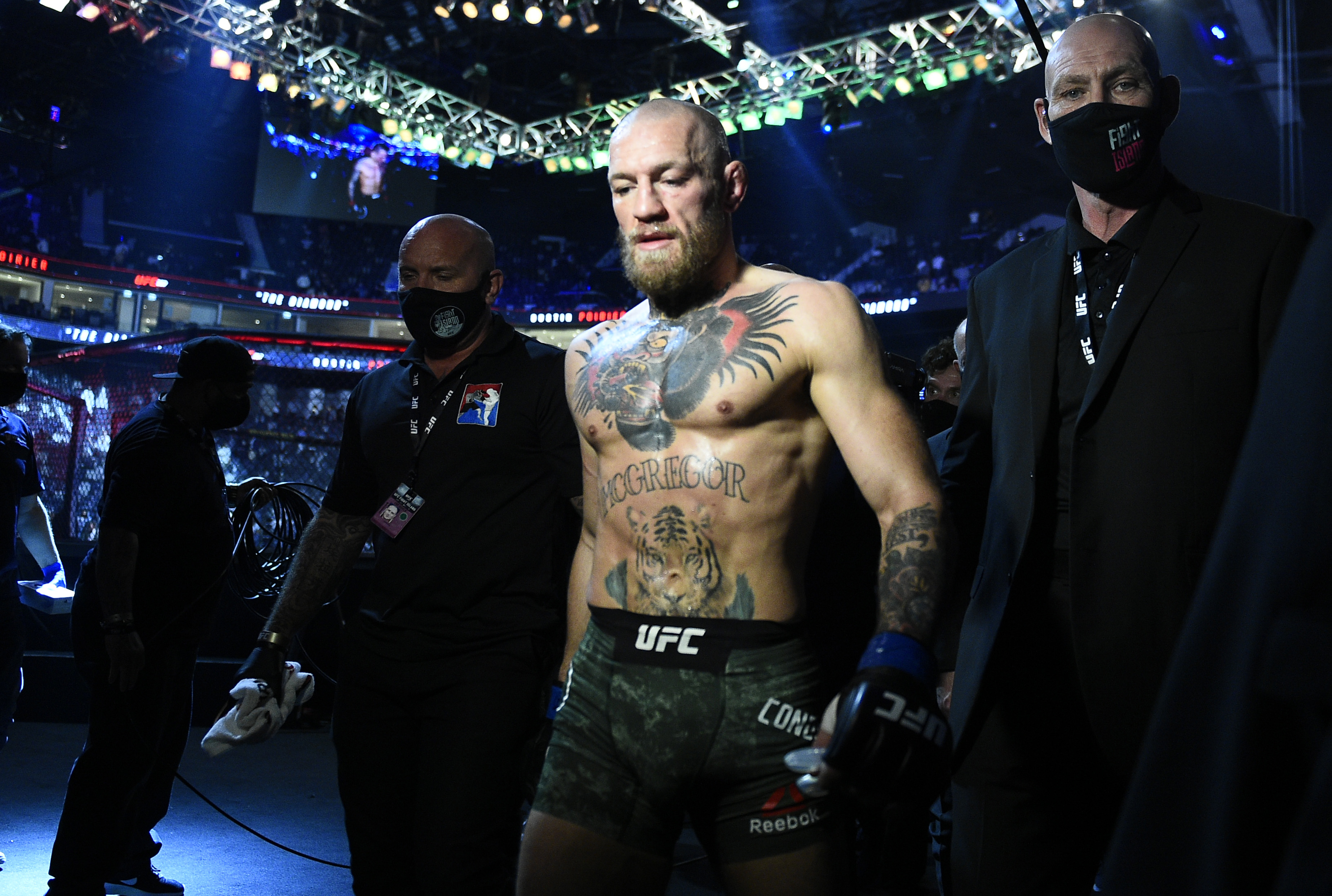 Conor McGregor walking to the ring before UFC 257