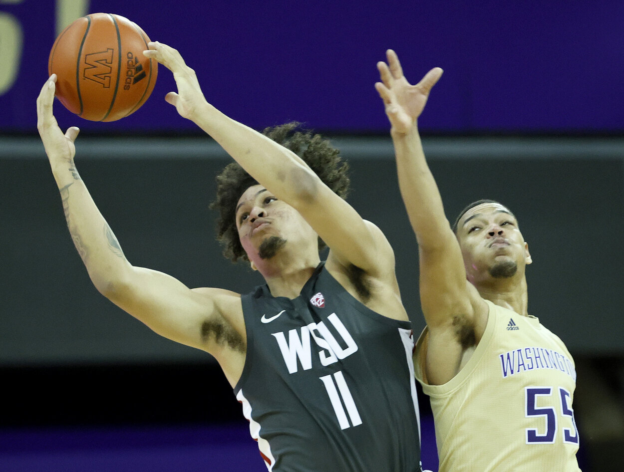 Dennis Rodman's son, DJ, plays basketball at Washington State.