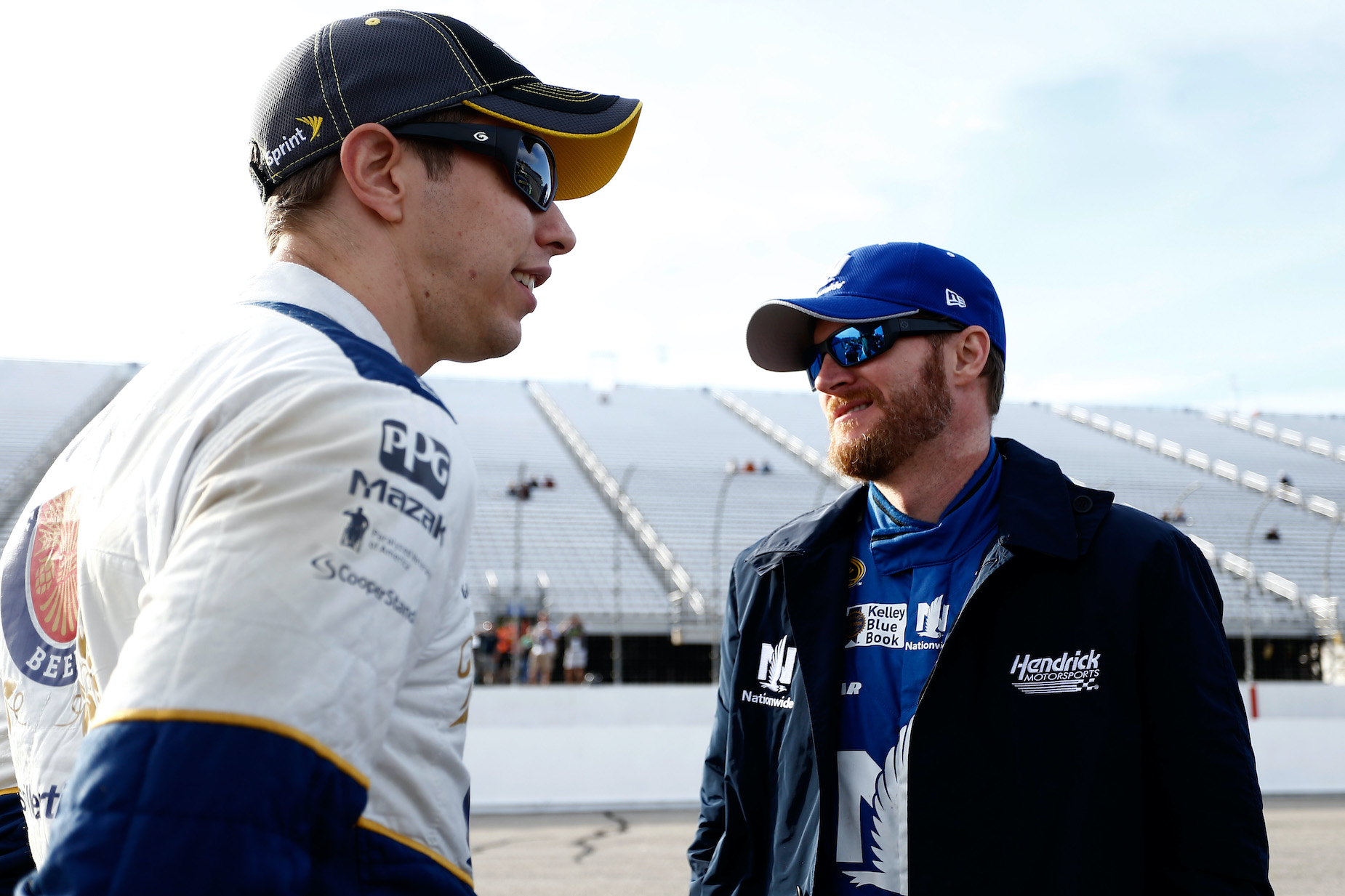 Dale Earnhardt Jr. and Brad Keselowski are no stranger to races, including one sprint to the bathroom.