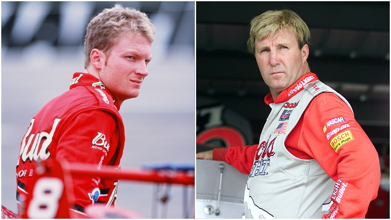 NASCAR drivers Dale Earnhardt Jr. and Sterling Marlin