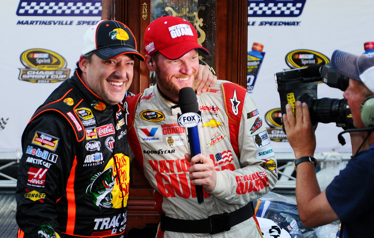 How a Post-Crash Fight Led to Dale Earnhardt Jr. and Tony Stewart Developing a Friendship