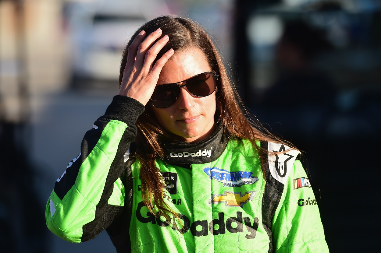 Danica Patrick following the last race of her NASCAR career, the 2018 Daytona 500