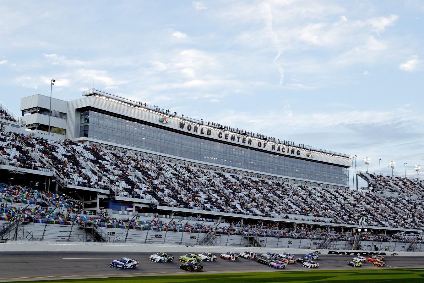 Wide shot of Daytona International Speedway