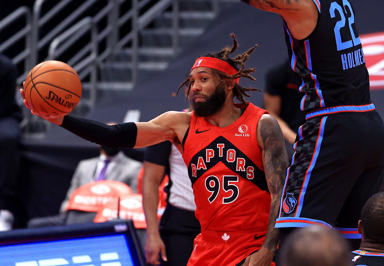 Toronto Raptors forward DeAndre' Bembry was the first player in NBA history to wear No. 95 -- and he donned the number in honor of his late brother, Adrian.