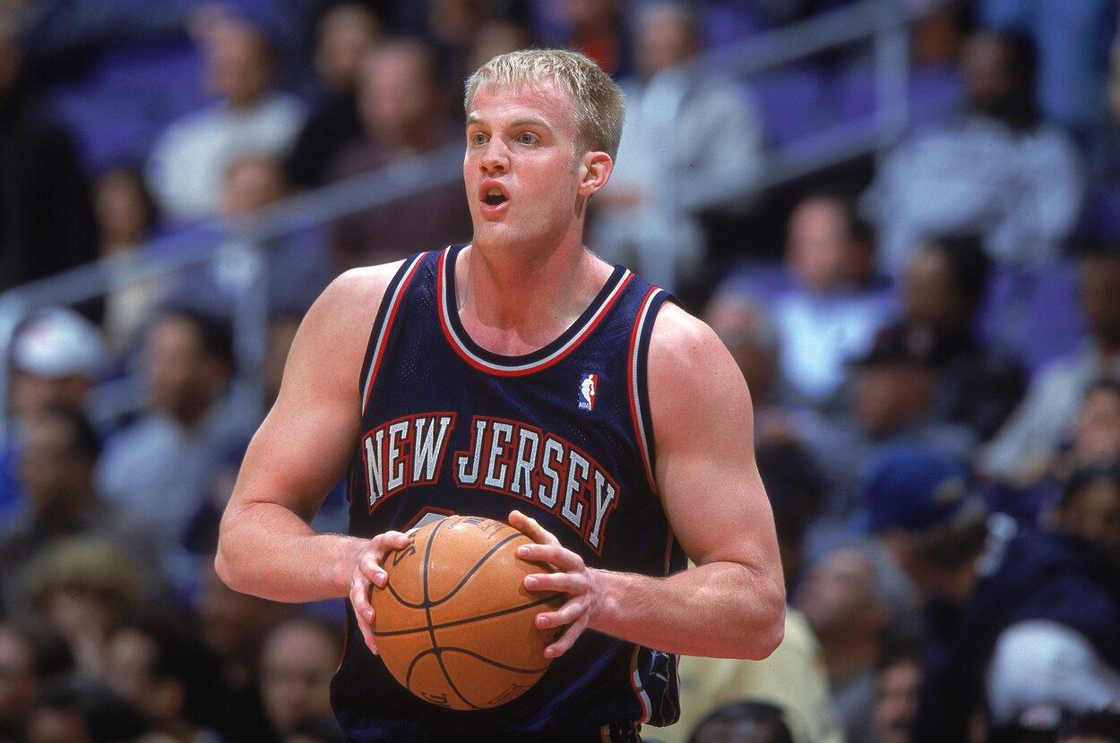 Former New Jersey Nets center Evan Eschmeyer in 2000.