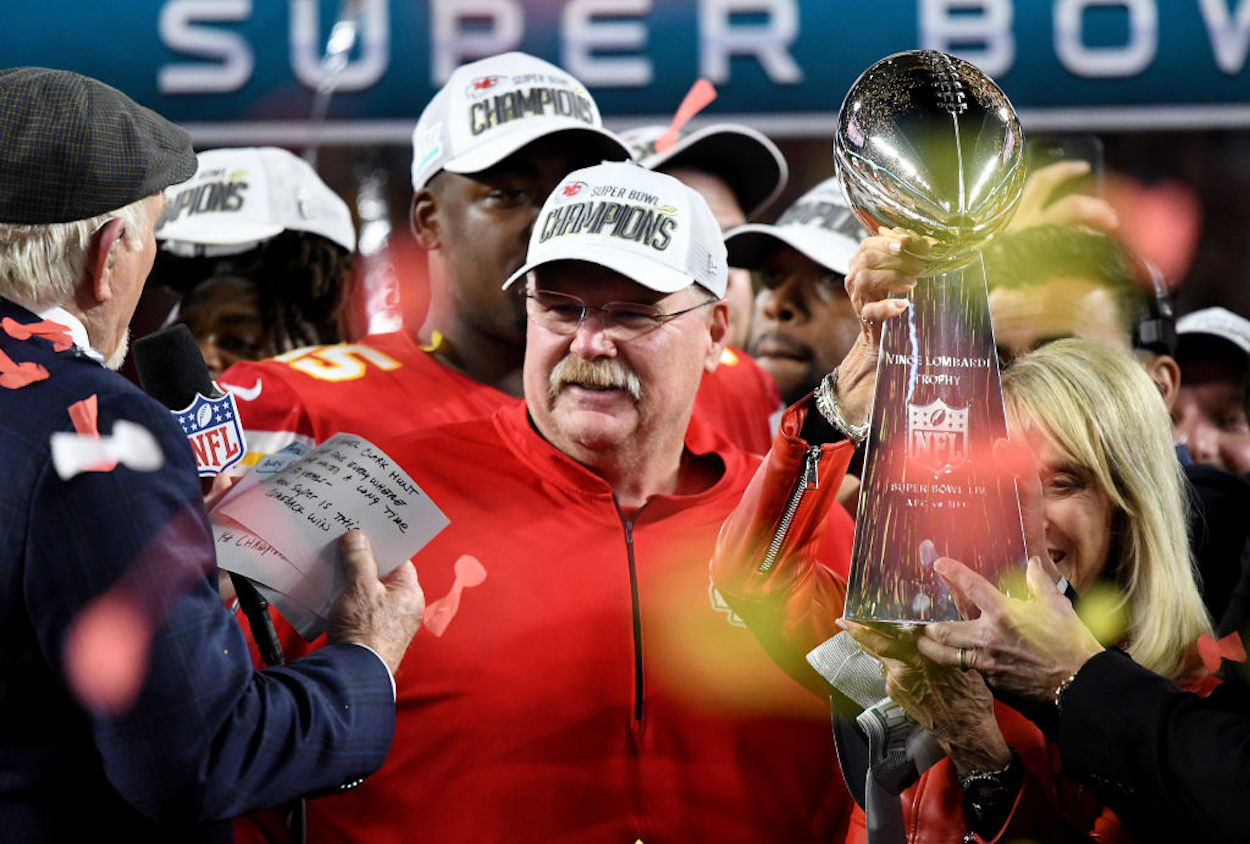 Super Bowl 55 is still a few days away, but Kansas City Chiefs head coach Andy Reid already has a victory meal in mind.