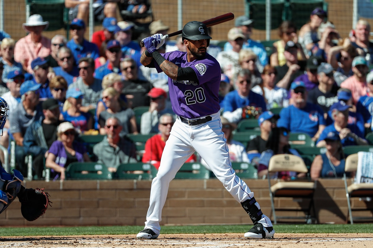 Colorado Rockies OF Ian Desmond at bat