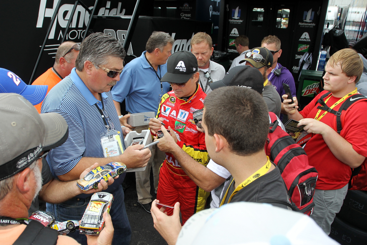 Jeff Gordon has always tried to find time for his fans.