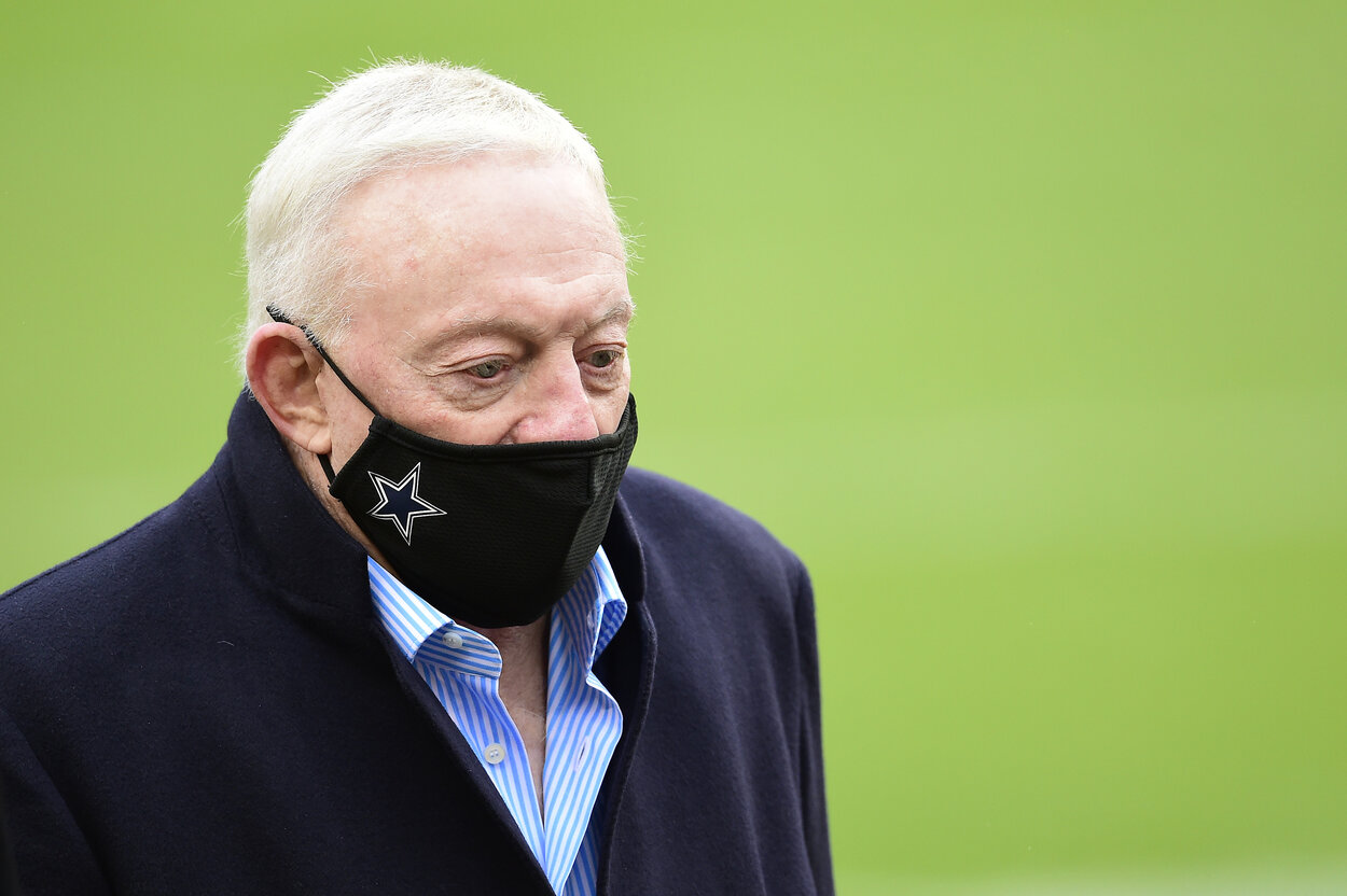 Dallas Cowboys owner Jerry Jones before a 2020 game.