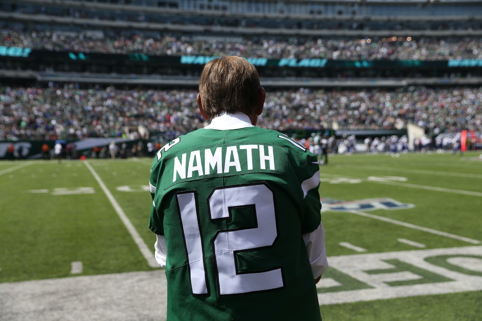 New York Jets legend Joe Namath made an uncomfortable comment about female referee Sarah Thomas ahead of the Super Bowl.