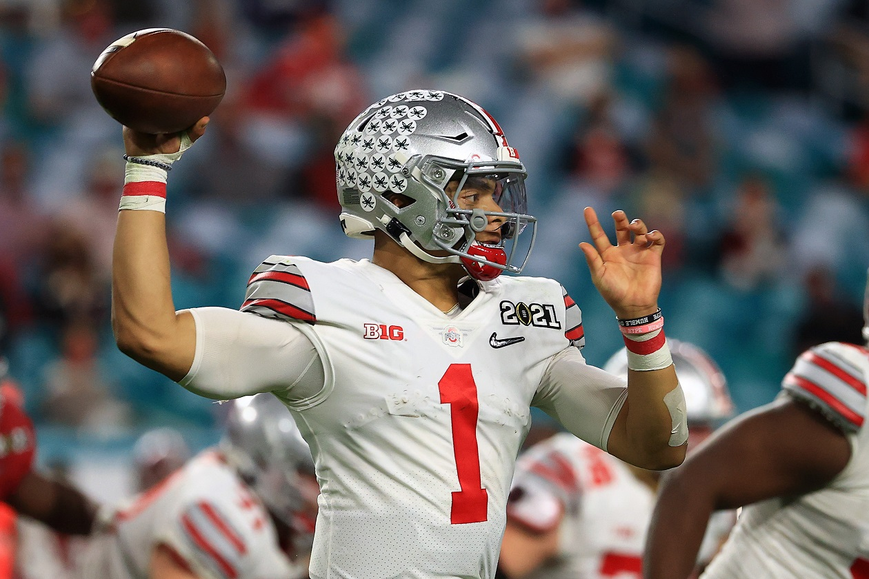Ohio State QB Justin Fields during the national championship game