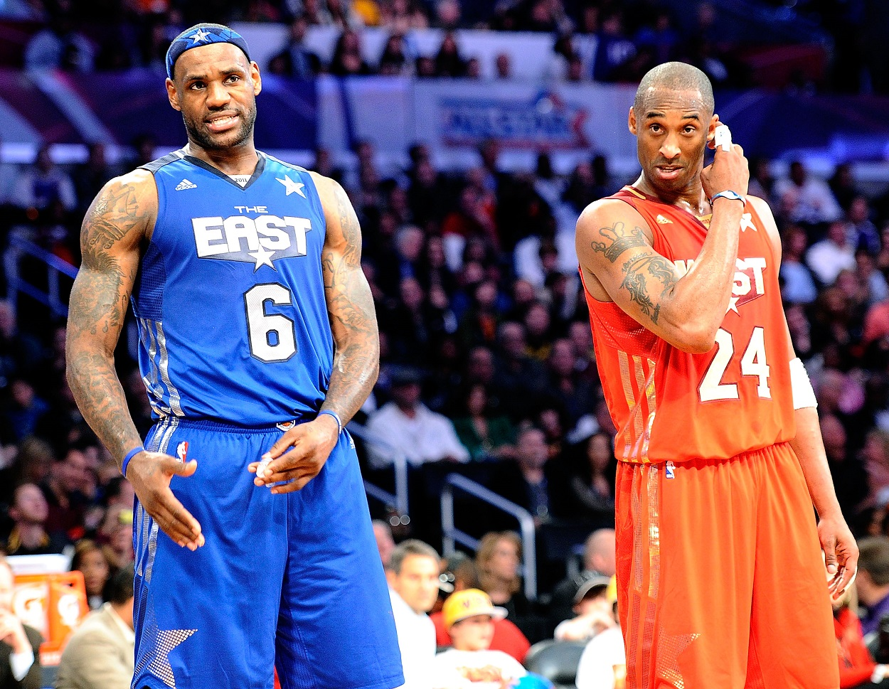 LeBron James and Kobe Bryant at the 2011 NBA All-Star Game