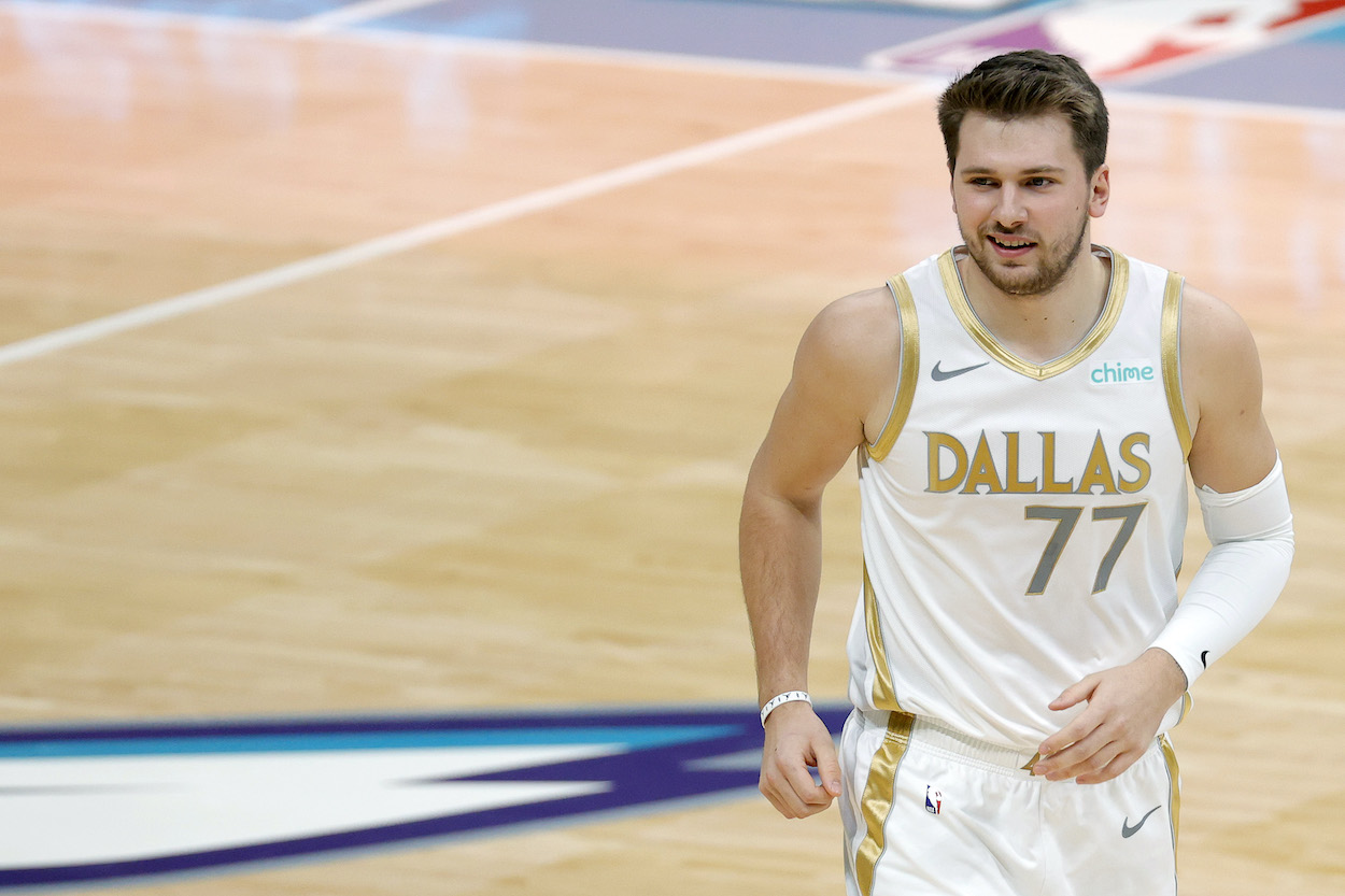 Luka Doncic of the Dallas Mavericks