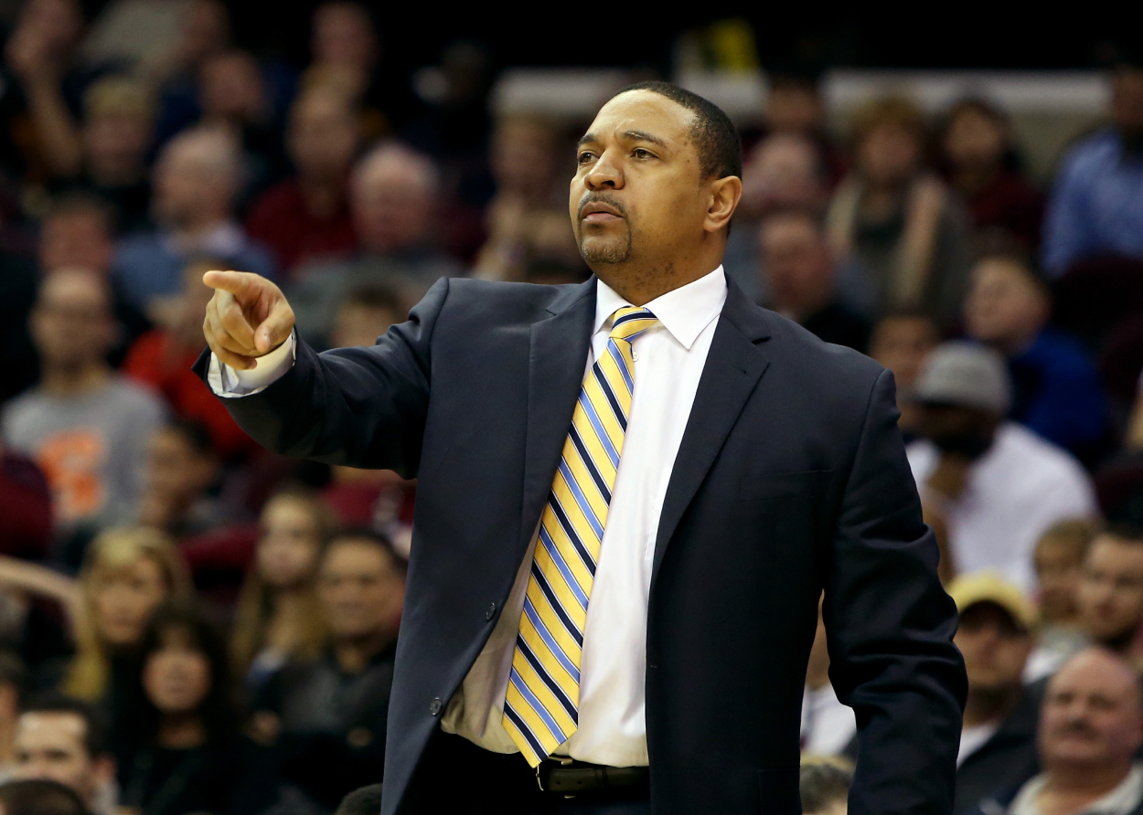 ESPN's Mark Jackson coaching the Golden State Warriors.