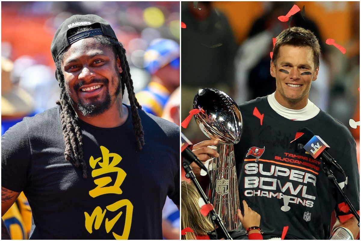 NFL legend Marshawn Lynch was all for Tom Brady going at Tyrann Matthieu during the Super Bowl, claiming him as one of Oakland's finest.