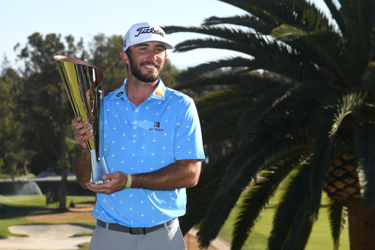 Max Homa celebrates his second PGA Tour win