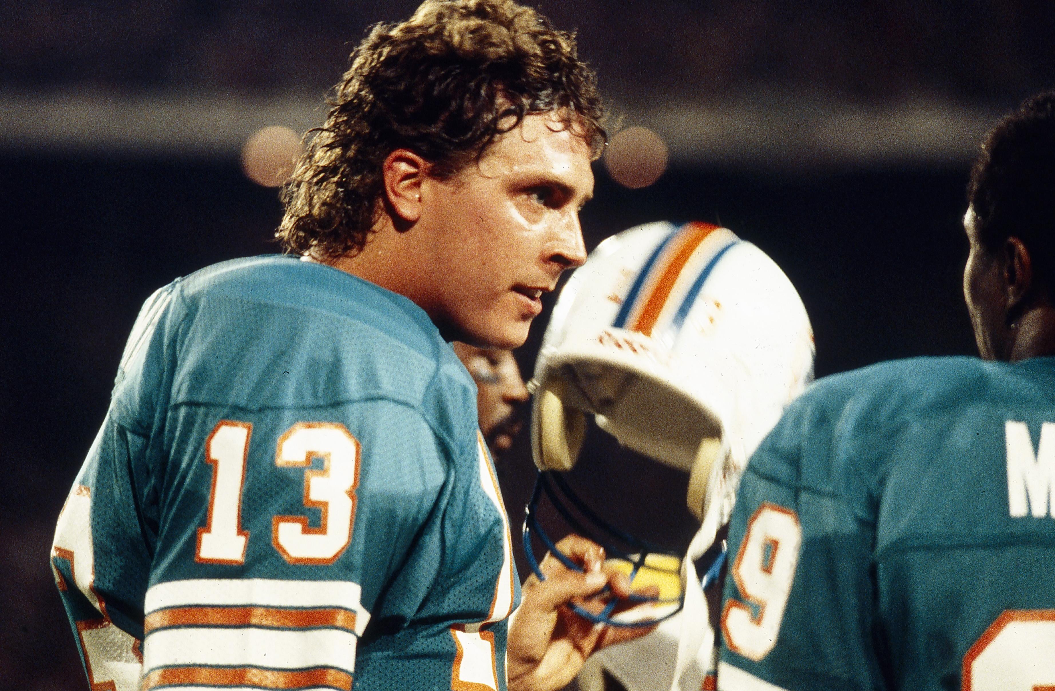 Quarterback Dan Marino of the Miami Dolphins on the field in 1986