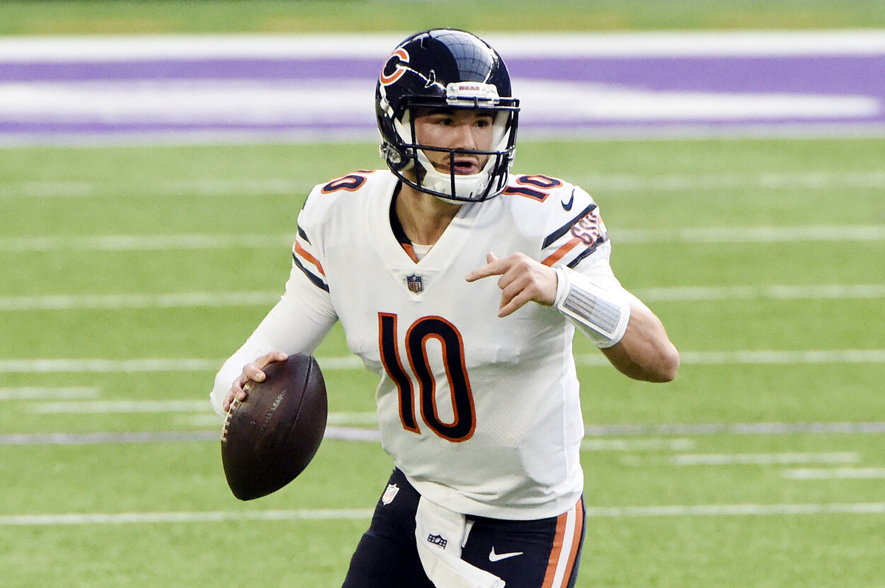 Chicago Bears quarterback Mitchell Trubisky during a December 2020 game.