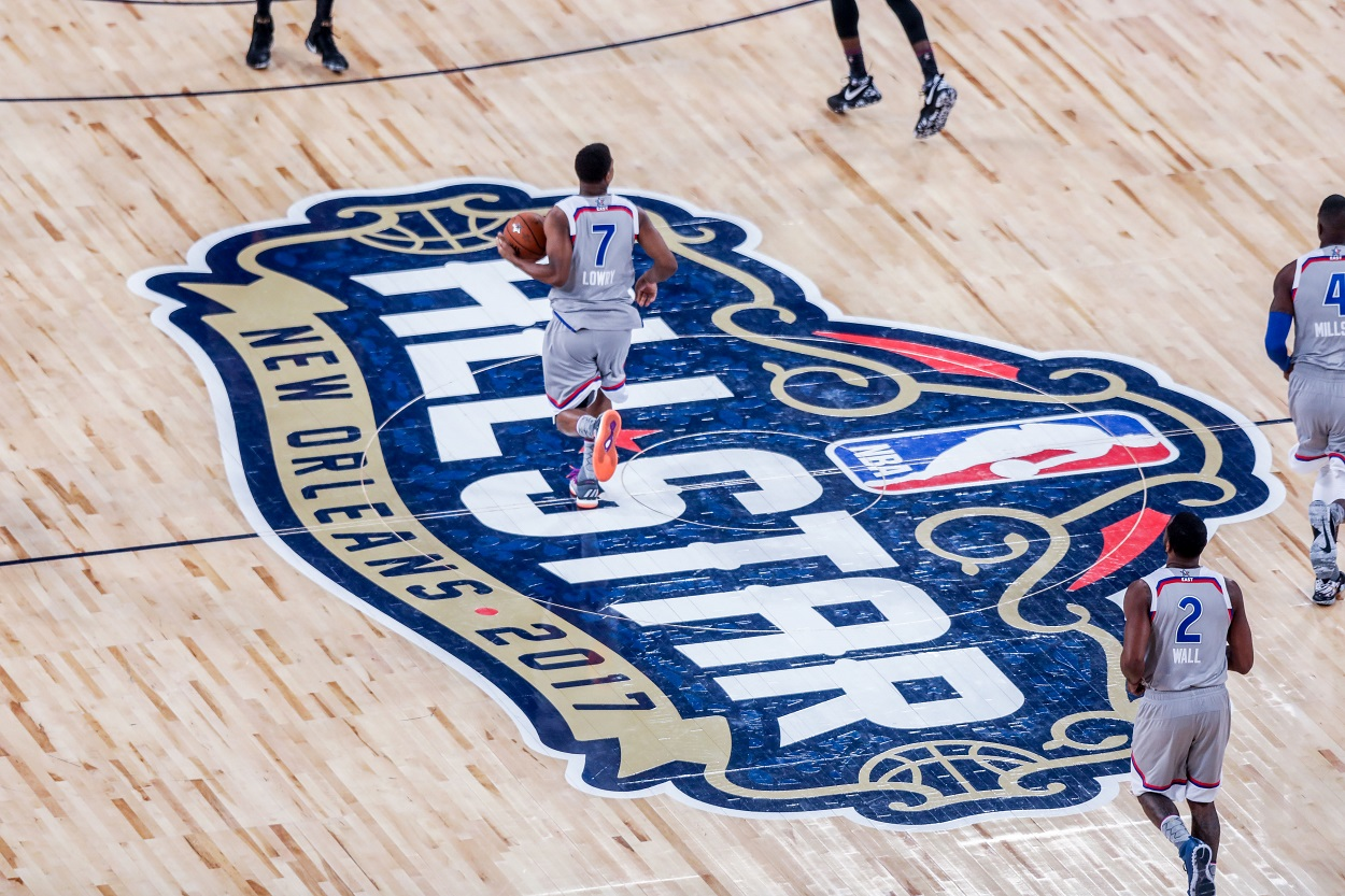 The NBA All-Star Game logo from 2017 in New Orleans