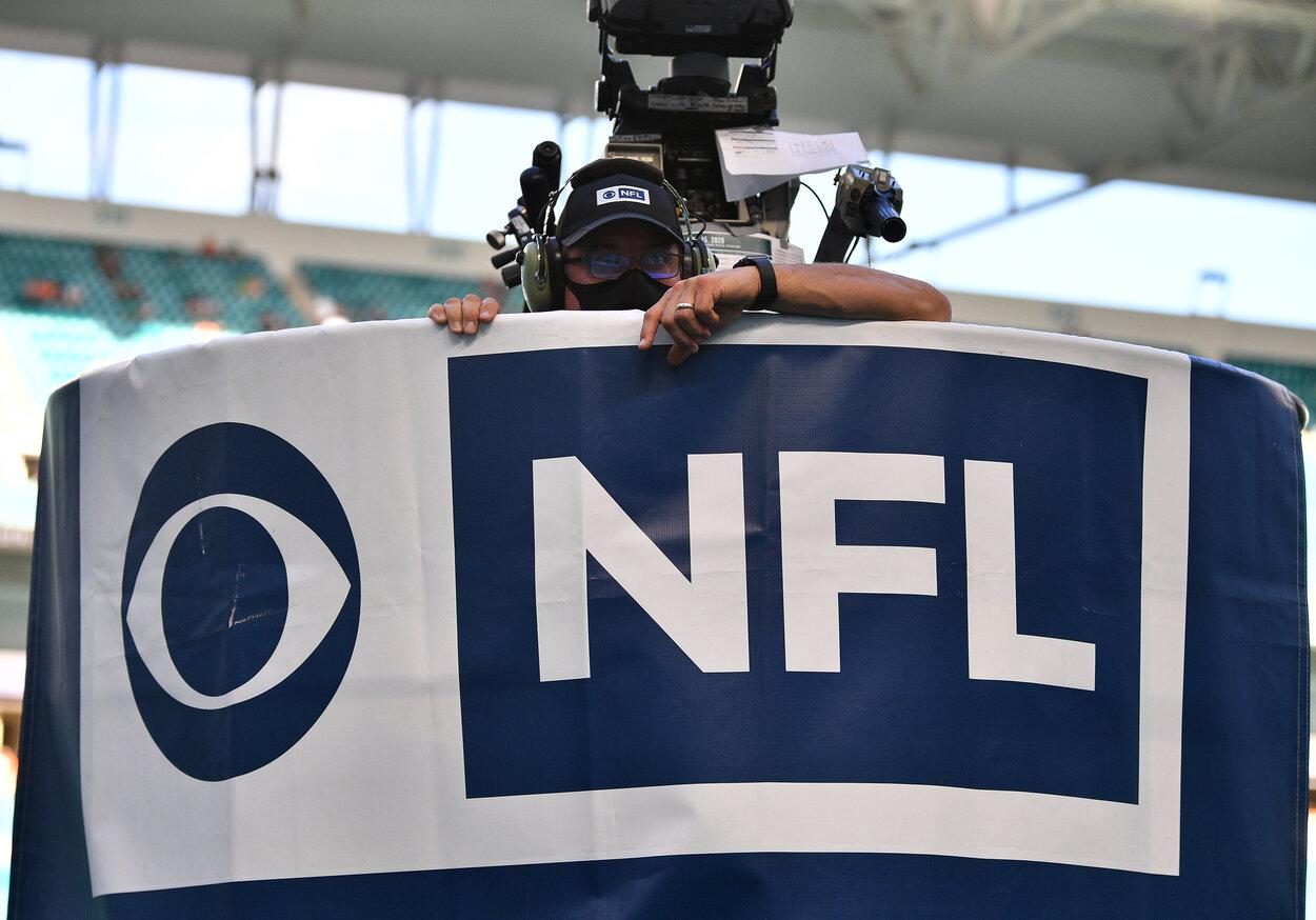 An NFL on CBS camera guy