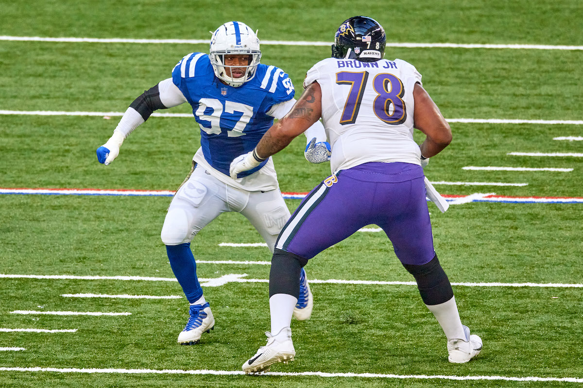 The Indianapolis Colts have a huge hole at left tackle to fill. They might've just found their new left tackle thanks to his request to seek a trade.