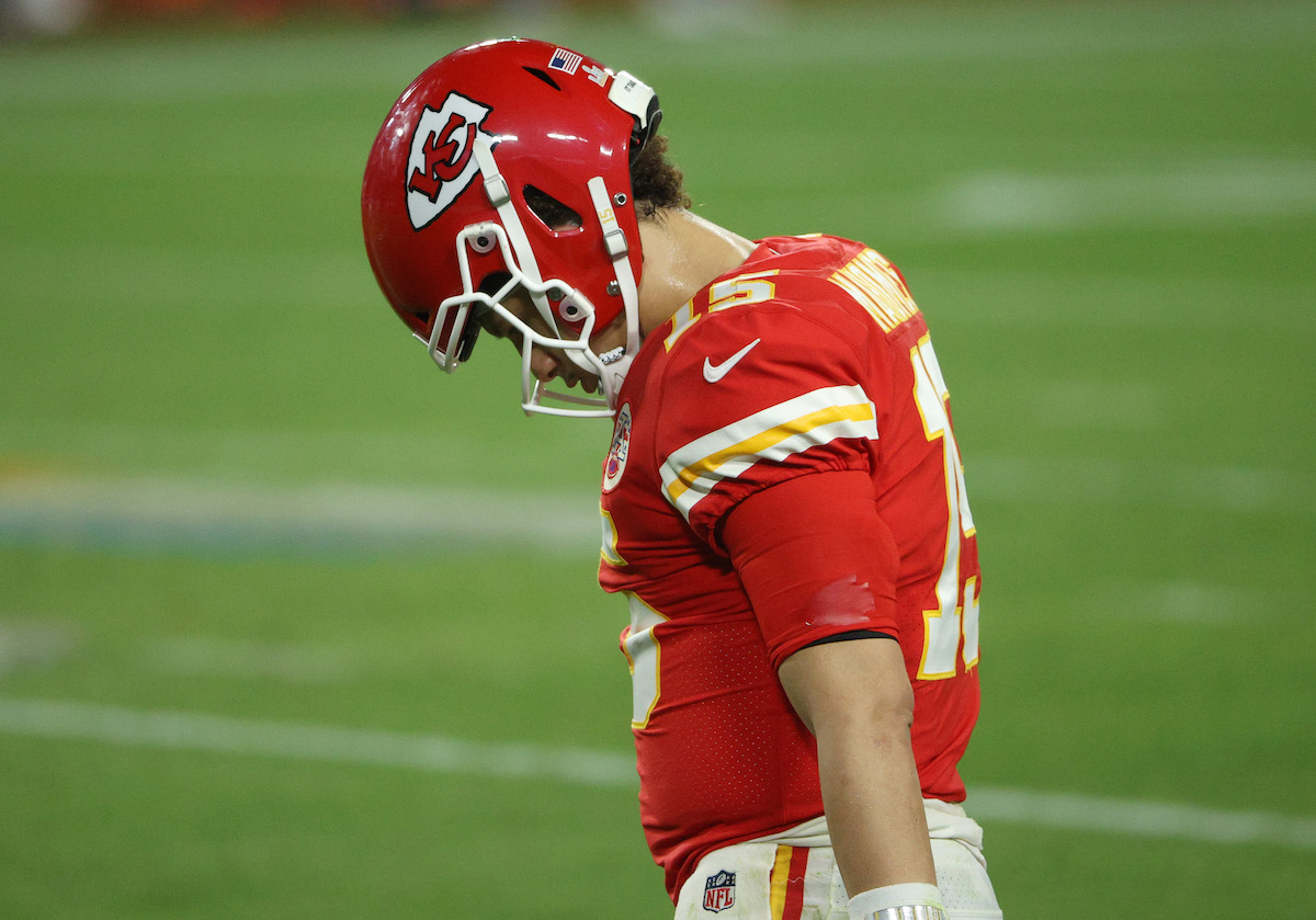 Patrick Mahomes had a less than stellar performance in Super Bowl 55, and just did something for the first time in his NFL career.