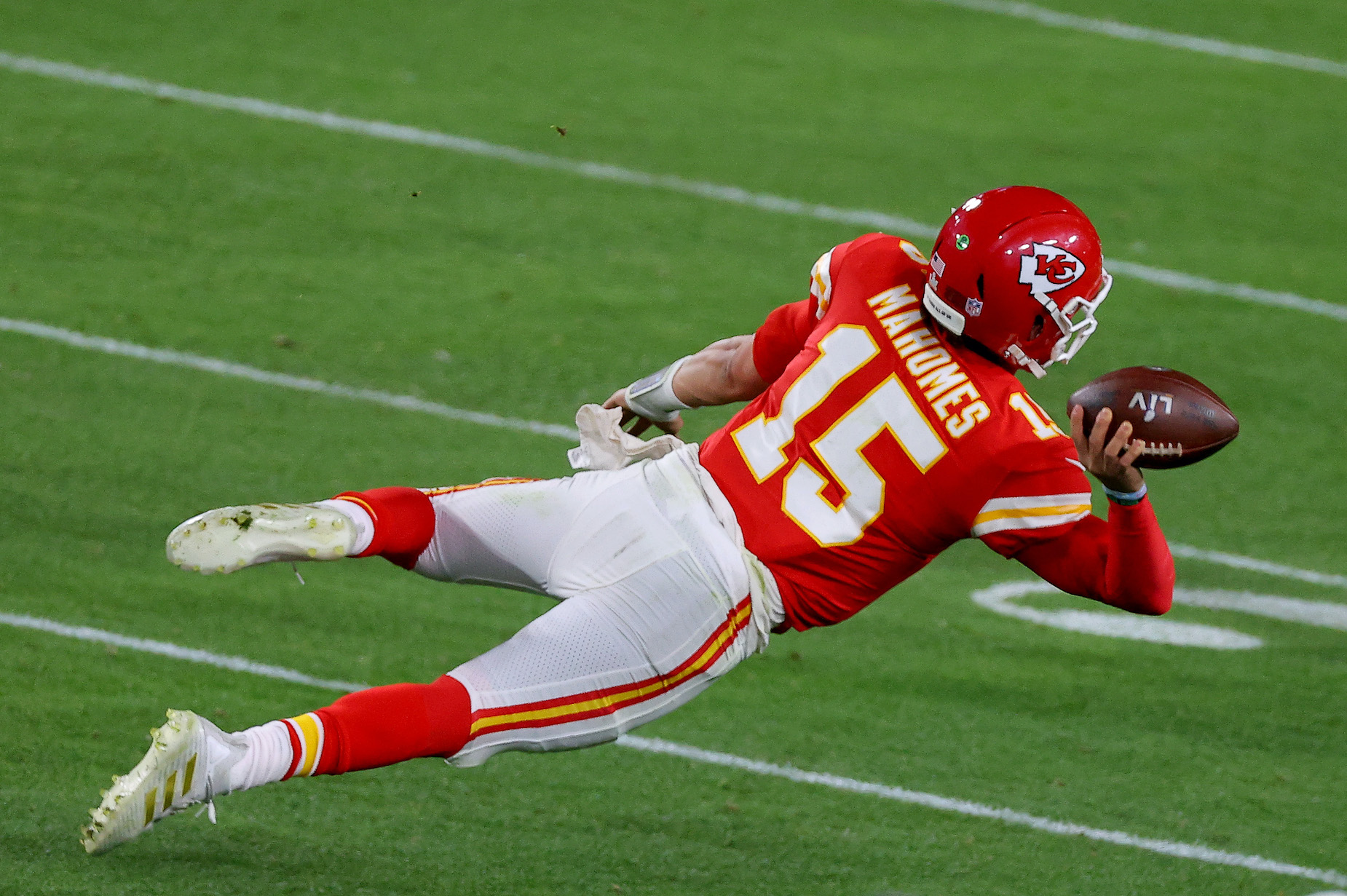 Kansas City Chiefs quarterback Patrick Mahomes struggled in Super Bowl 55 but still impressed the Tampa Bay Buccaneers receivers.
