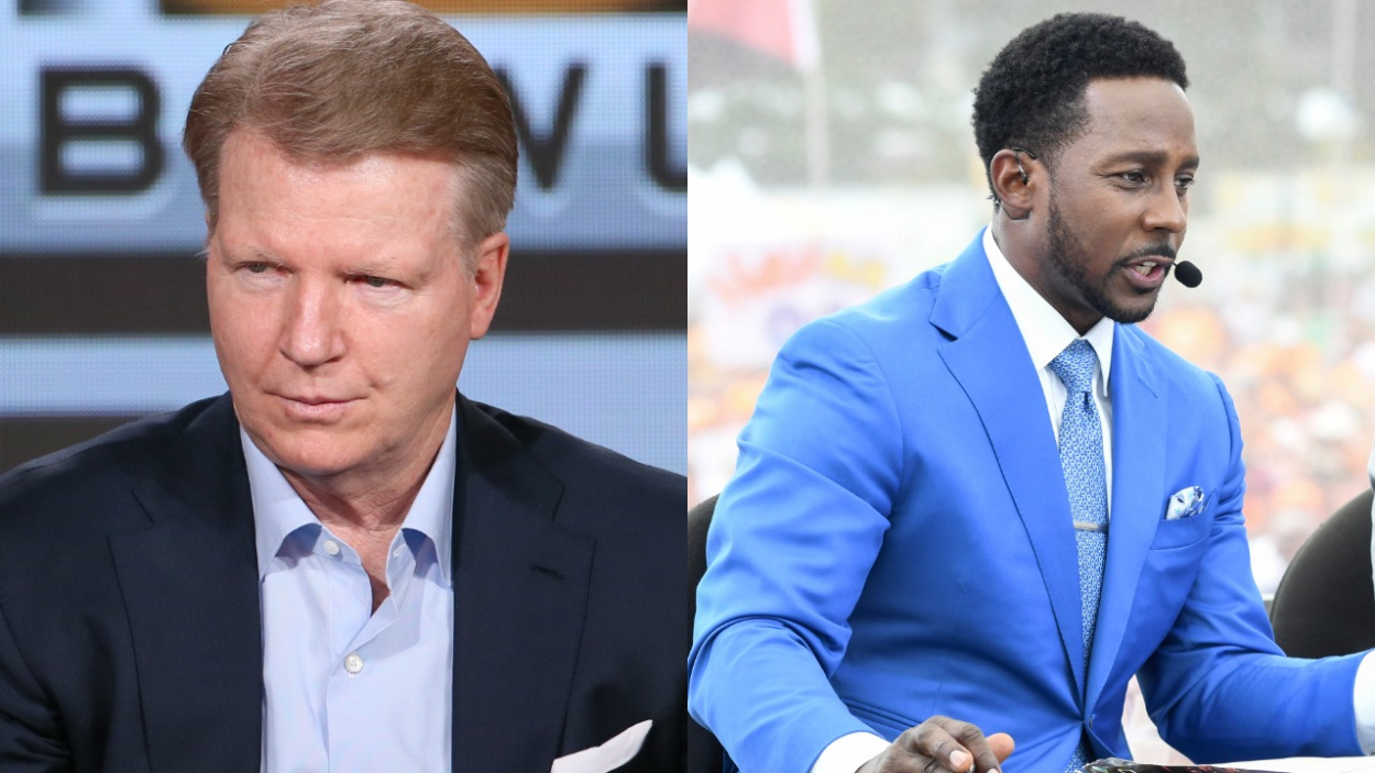 Phil Simms and Desmond Howard have succeeded on TV following their playing days. Simms, though, once allegedly threatened to punch Howard.